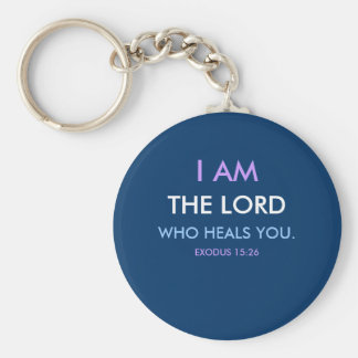 I AM THE LORD 1118 BASIC ROUND BUTTON KEY RING
