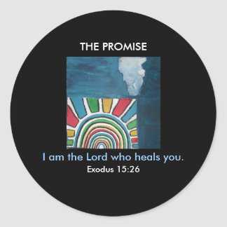 I AM THE LORD 1118 CLASSIC ROUND STICKER