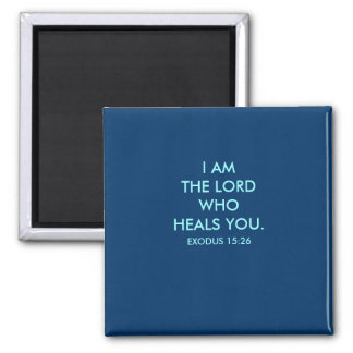I AM THE LORD - 1118 SQUARE MAGNET