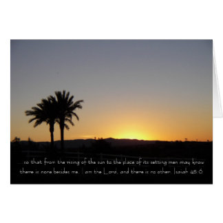 I am the Lord Sunset Greeting Card