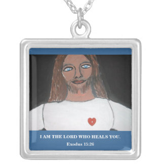 I AM THE LORD WHO HEALS YOU SQUARE PENDANT NECKLACE