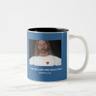 """""""I AM THE LORD WHO HEALS YOU"""" Two-Tone COFFEE MUG"""