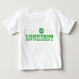 """""""I am the LUCKIEST"""" infant t-shirt"""