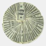 I am the money. round sticker