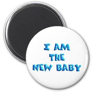 I am the New Baby boy 6 Cm Round Magnet