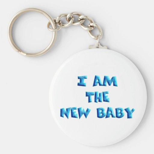 I am the New Baby boy Key Chain