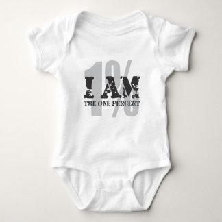 I am the one percent! 1%! baby bodysuit