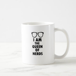 I Am The Queen Of Nerds Basic White Mug