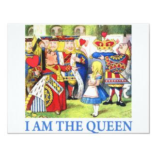 I AM THE QUEEN OF WONDERLAND 11 CM X 14 CM INVITATION CARD