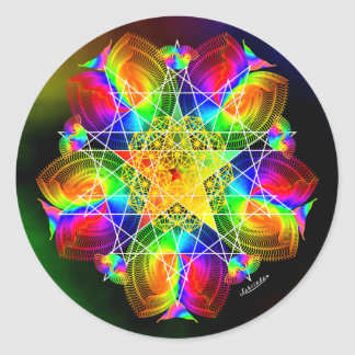 I Am the Rainbow Round Sticker