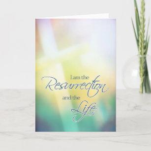 Christian easter cards invitations zazzle i am the resurrection the life christian easter christmas card negle Images
