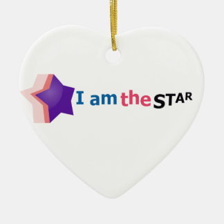 i am the star christmas ornament