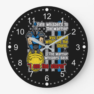 I Am the Storm Police Warrior Clock