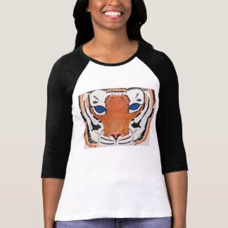 I am the Tiger, hear me ROAR! Ladies retro T-shirt