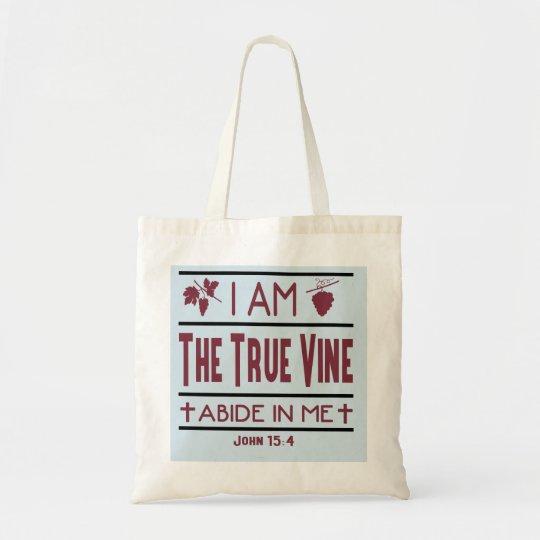 I Am The True Vine Christian Budget Tote