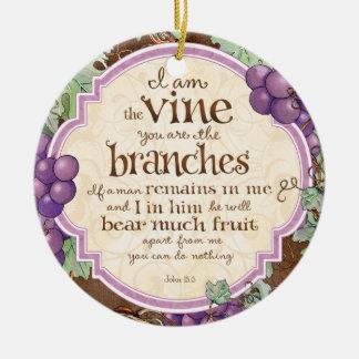 I Am the Vine Scripture Ornament
