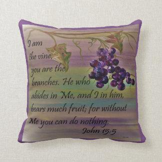 I am the Vine Throw Pillow