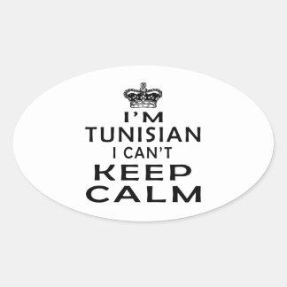 I am Tunisian I can't keep calm Oval Sticker
