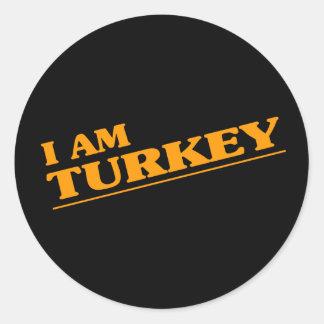 I am Turkey Sticker
