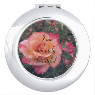 I am uniquely beautiful compact mirror