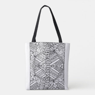 I AM Unstoppable- Color your own Tote Bag
