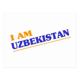 I am Uzbekistan Postcard
