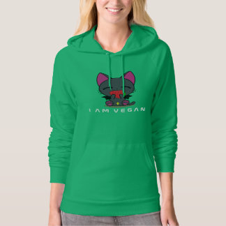 I AM VEGAN:: Fleece Pullover Hoodie