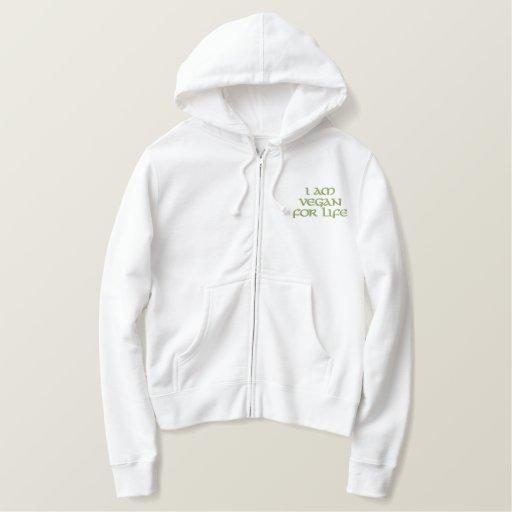 I Am Vegan For Life. Green on White.