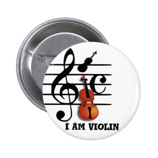 I Am Violin_ Pinback Buttons