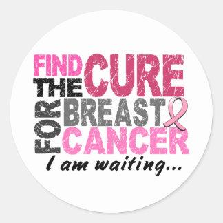 I Am Waiting Breast Cancer Round Sticker