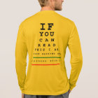 I Am Warming Up Eye Chart - LS Sport-Tek Running T-Shirt