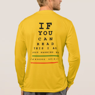 I Am Warming Up Eye Chart - LS Sport-Tek Running T-Shirt