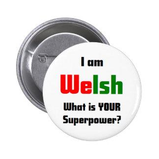 i am welsh 6 cm round badge