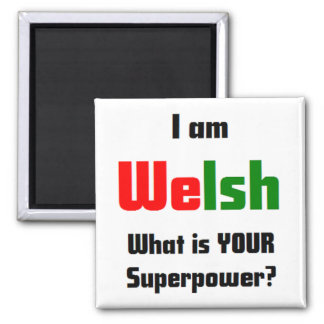 i am welsh square magnet