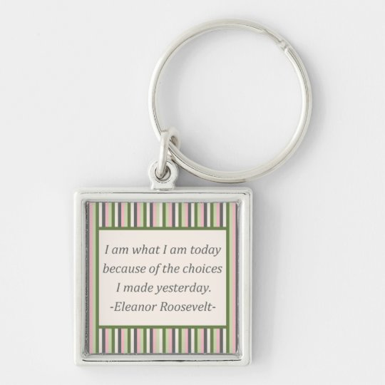 I am what I am today Key Ring
