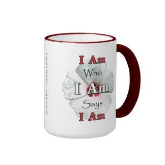 I Am Who I Am Says I Am Mugs - White