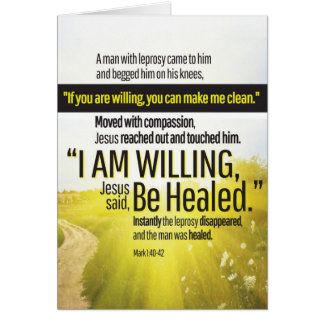 """""""I Am Willing"""" Get Well Card"""