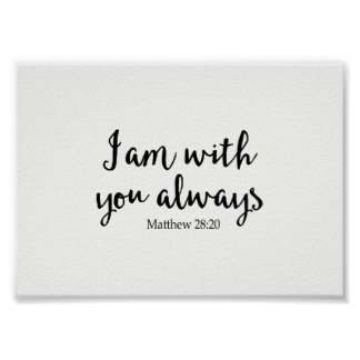 I Am With You Always Poster