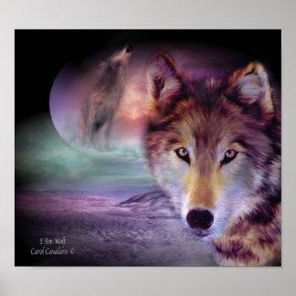 I Am Wolf Art Poster Print
