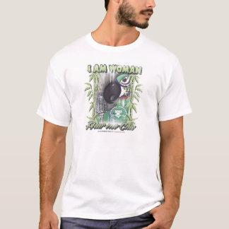 I Am Woman Hear Me Caw by Robyn Feeley T-Shirt