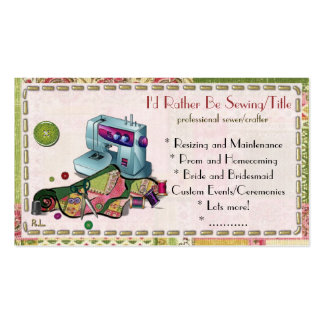 I Am Woman Hear Me Sew CUSTOM TAYLOR CRAFTER Pack Of Standard Business Cards