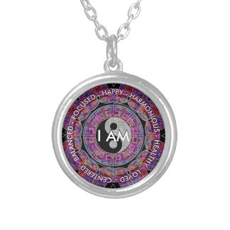 I Am Yin Yang Silver Plated Necklace