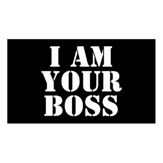 I Am Your Boss Custom Business Card Template