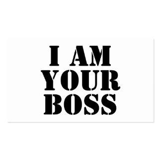 I Am Your Boss Custom Business Card Templates