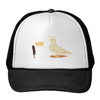 I am your feather funny design cap