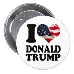 I American Flag Heart Donald Trump 7.5 Cm Round Badge