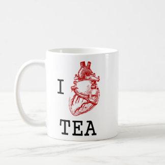 I anatomical heart tea basic white mug