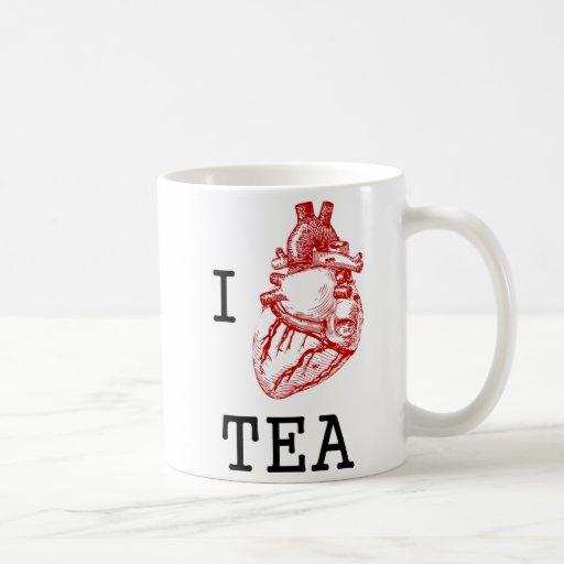 I anatomical heart tea mug