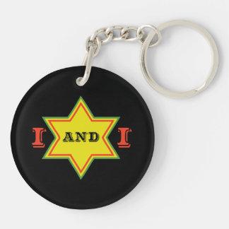 I and I Double-Sided Round Acrylic Keychain