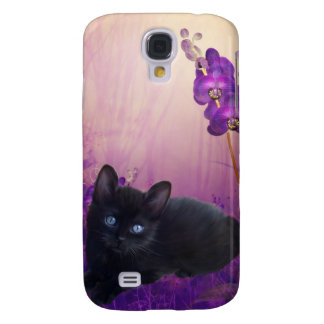 i Animals Cat Flowers Galaxy S4 Case